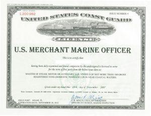 Merchant Marine License